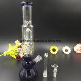 Tubo di fumo di vetro della coppa di Percs dell'albero del braccio del doppio 4 di Bontel