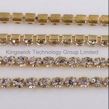 Soldering를 위한 분홍색 Jewelry Rhinestone Cup Chain
