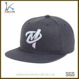 Snapback de encargo de Hip Hop de los sombreros y de los casquillos del bordado del gris 3D