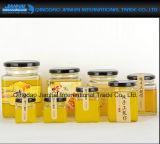 Freier leerer quadratischer Form-Honig-Behälter mit Zinn-Schutzkappe