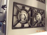 4 quemadores de gas comercial gama con horno de gas para cocina (HGR-4G)