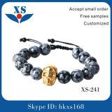 Qualitäts-Gold überzogene Schädel-Zoll-Armbänder