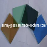 Het gekleurde Glas van de Vlotter voor de Bouw/Meubilair