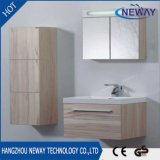Vanité de salle de bain simple en mélamine murale de qualité