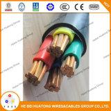 câble d'alimentation 0.6/1kv Unarmored isolé par XLPE