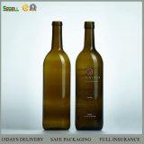 bottiglia di vino di vetro del Bordeaux della parte inferiore piana 750ml (bottiglia di vino 01 di vetro)