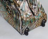 Tessuto del raso con il sacchetto del carrello di modo del testo fisso del PVC