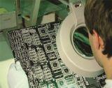 Перчатки винила конкурентоспособной цены голубым напудренные цветом для индустрии электроники