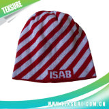 Fashion Striped Beanie Knitted女性冬の暖かいスポーツの帽子(024)