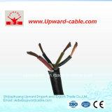 Cable flexible forrado caucho de la mina de cobre