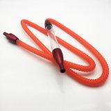 1.8m 길이 마우스피스 (ES-HH-003)를 가진 빨간 아크릴 Hookah 호스 관