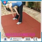Pavimentazione di gomma di ginnastica, mattonelle di gomma del campo da giuoco, mattonelle di pavimento di gomma di ginnastica