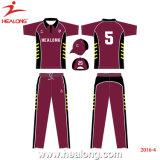 Sublimation personnalisé Healong Mens Cricket Accessoires Vêtements Maillot de Cricket