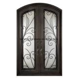 美しいアーチ形にされた上のWrougthの鉄のドアデザイン