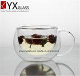 Nuevo estilo de cristal del agua del vaso de doble pared Copa vaso con la manija / regalo creativo por encargo Ecológico doble pared de hielo Cerveza cristal Copa