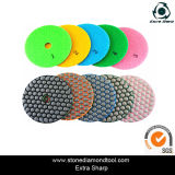 "4 "" Diamond Polishing Pads souples pour le polissage et de la meule"