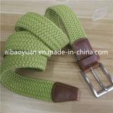 青緑色のウェビングの方法様式の簡単な編みこみのベルト