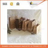 Saco de papel do punho preto luxuoso da alta qualidade para a embalagem