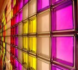 Bloque de cristal del ladrillo de cristal/material de construcción decorativos coloreados (JINBO)