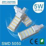 5W de alta qualidade G24 G23 LED do soquete da lâmpada pl