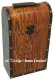 Madera decorativa mirar solo la impresión de cuero de PU/caja de vino de almacenamiento de madera MDF