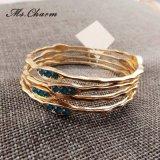 5 het Zilver van het Bergkristal van kleuren/de Goud Geplateerde Reeks van de Armband van Armbanden
