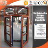 Fenêtre en bois en aluminium et en alliage de style européen et américain avec grille