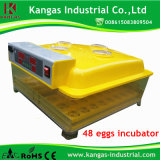 Incubators van de Eieren van de Machine van het Ei van 98% de Uitbroedende Automatische 48 voor Verkoop