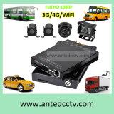 4CH système d'enregistrement mobile de véhicule de l'écart-type DVR avec le WiFi GPS