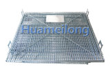 記憶に使用する金属線の網のFoldable容器