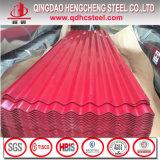 Colorear la hoja de acero acanalada prepintada cubierta cinc del material para techos