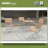 Открытый набор таблицы из тикового дерева сад деревянный стол и стул