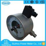 150mm todo o manómetro elétrico do contato do aço inoxidável