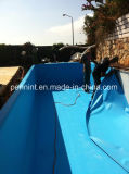 Forro azul da piscina do PVC