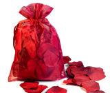 Los pétalos de seda con Organza bolsa de regalo para la boda Favores