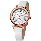 Acier inoxydable montre à quartz pour dame (6178L)