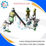 6-10mm 3T/H de la línea de fabricación de pellets de aserrín de madera