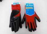 Перчатки работы безопасности Sandy нитрила раковины полиэфира покрытые (N3401)