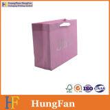 Logotipo estampado en caliente de papel kraft blanco Bolsa de compras / Bolsa de papel de regalo