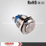 CE RoHS (19mm) High Momentary Waterproof Push Button de Hban