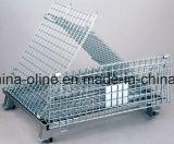 Depósito dobrada empilháveis Wire Mesh Cage Match com empilhadeiras