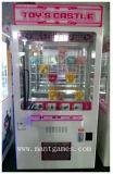 おもちゃの城の販売のための小型プラシ天のおもちゃクレーン機械/硬貨の自動販売機