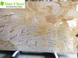 Mármol de Onyx amarillo hermoso, azulejo Polished de la losa