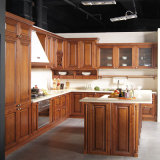 Armadio da cucina di verniciatura del caffè di legno solido dell'acero di Welbom progettato