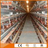 プレハブが付いている自動層の家禽のケージはキーサービスを取除き、回す