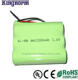 AA1200 3.6V正方形のNiMH電池のパック