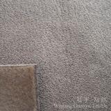 Tissu en daim en cuir polyester avec processus d'estampage à chaud