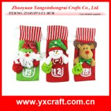 クリスマスの装飾(ZY16Y172-3-4 26X15CM)のクリスマスのワイン記憶装置の表示クリスマスのワイン・ボトルの装飾