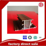 Grano de madera del perfil de aluminio de la alta calidad, rotura termal, anodizando