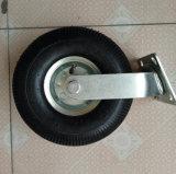 Poulie à roues pneumatique en caoutchouc noir industriel de 10 pouces